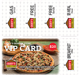Casey's VIP Card Front